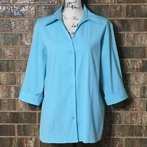 EUC Looks New DRESSBARN 3/4 length Sleeve Shirt